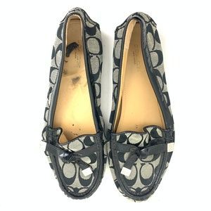 Coach Frida Pattern Leather Loafer Flats 9